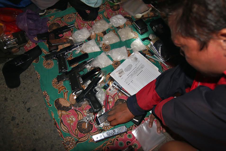 Butuan drug bust firefight evidence