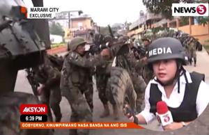 Maye Imson Marawi war zone