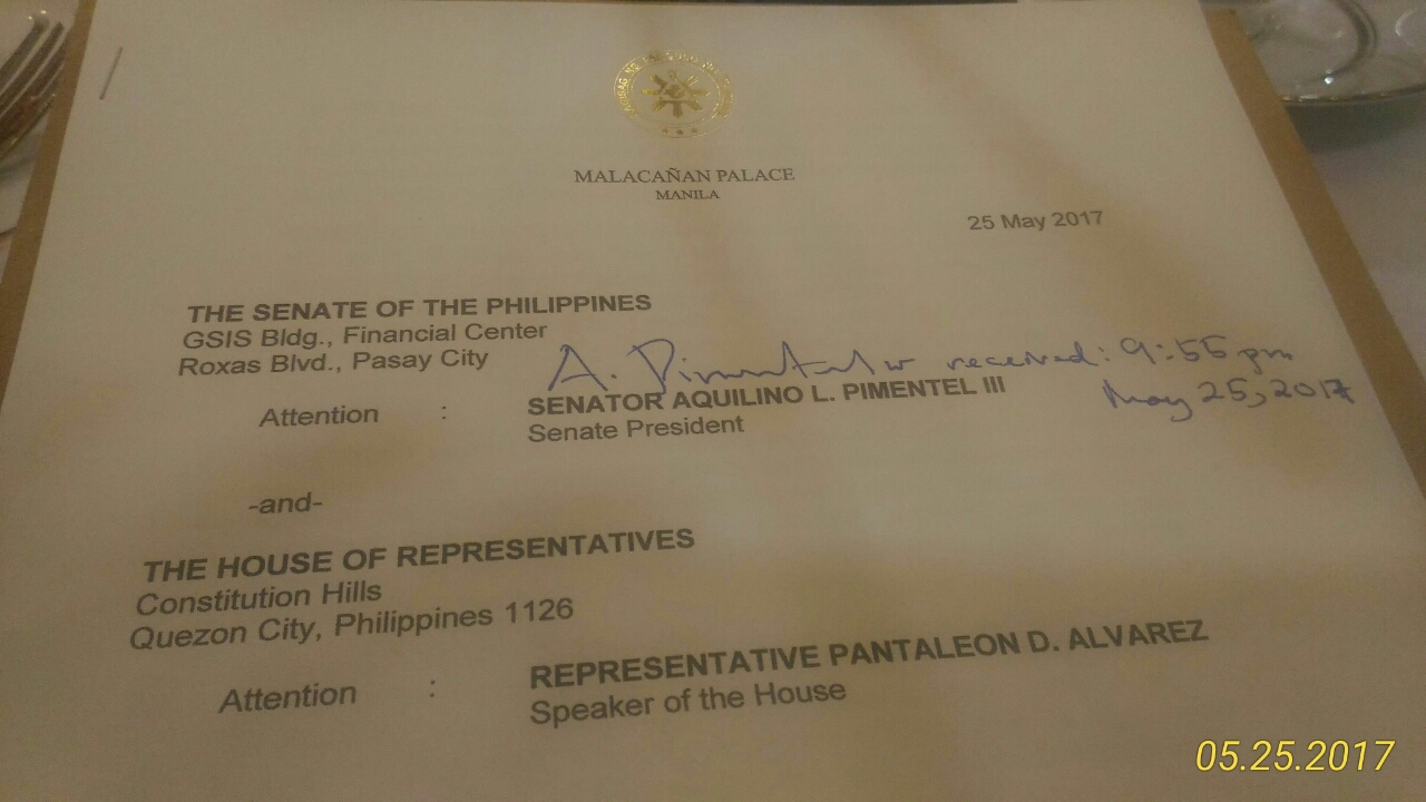 Sen. Pangilinan calls for joint session of Congress on martial law